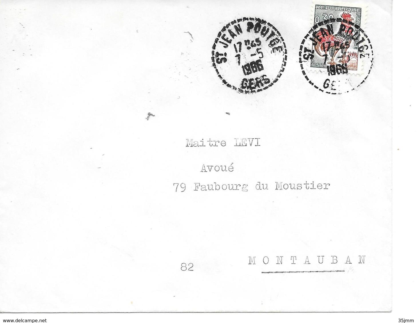 Recette Distribution Saint Jean Poutge Gers - Postmark Collection (Covers)