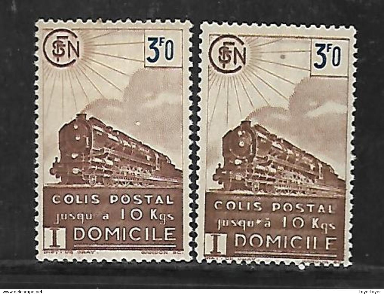Fg169  France Colis Postaux N°208-212 Sans Filigrane Et Avec Filigrane - Neufs