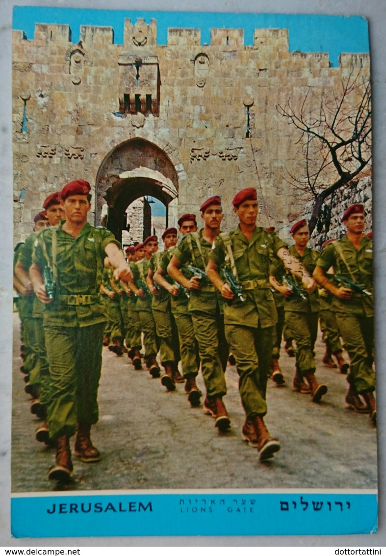 ISRAEL - Jerusalem, Lion Gate, Zahal Parachutists On Parade / Israel Defence Force Army - Yom Ha'atzmaut - Vg 1968 - Manovre
