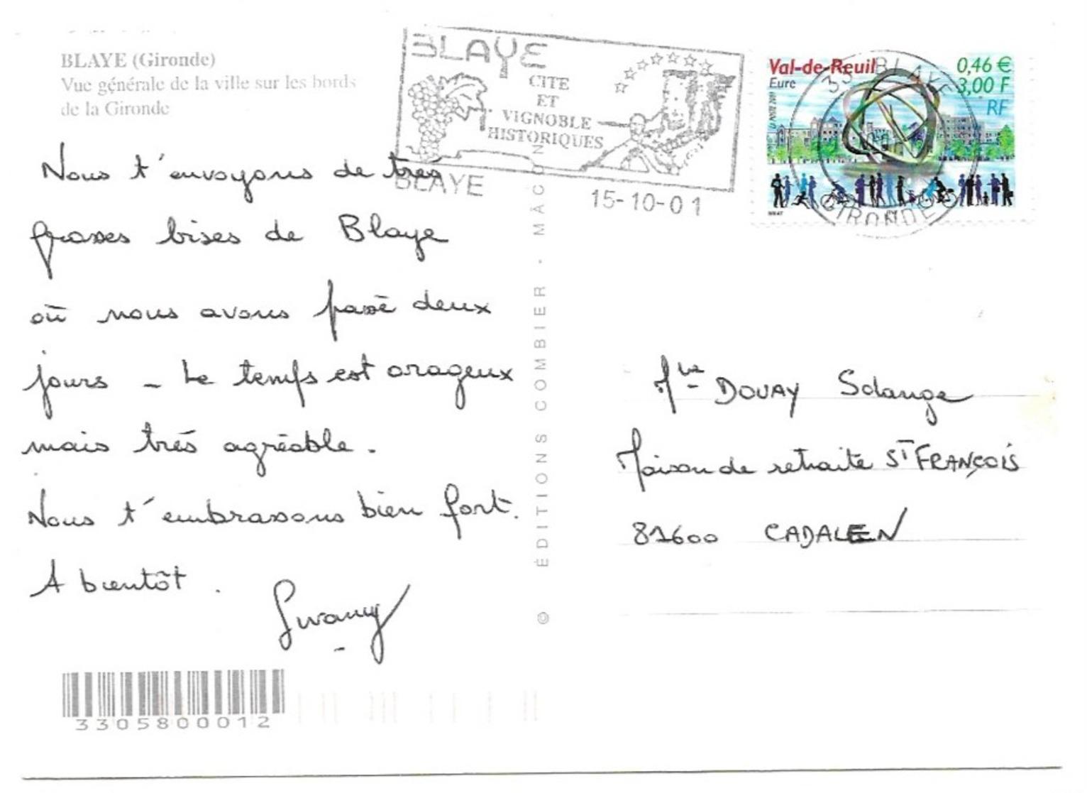 Blaye Vue Générale De La Ville Sur Les Bords De La Gironde - Blaye
