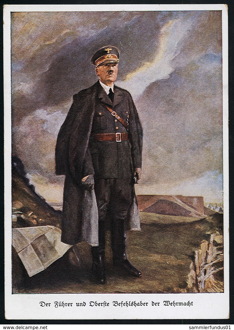 AK/CP   Hitler  Propaganda  Nazi  Ungel/uncirc.1933 - 45  Erhaltung/Cond. 2  Nr. 00603 - Guerre 1939-45