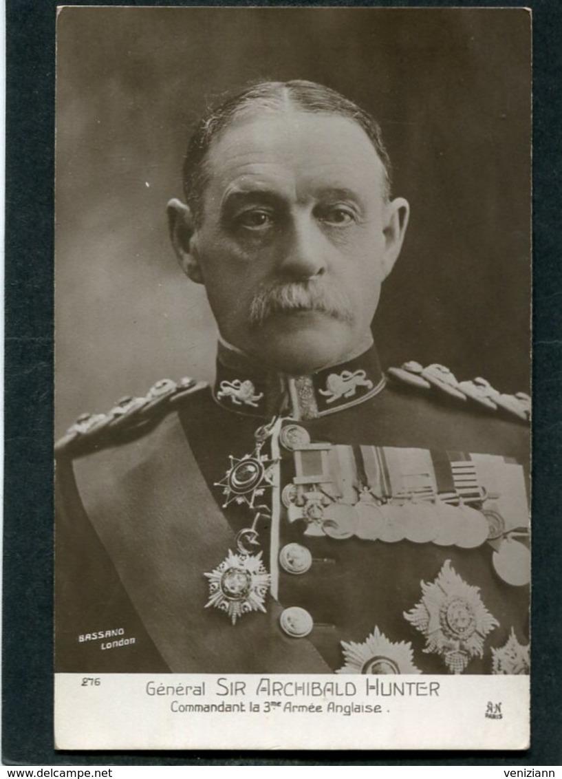 CPA - Général SIR ARCHIBALD HUNTER, Commandant La 3è Armée Anglaise - Guerre 1914-18