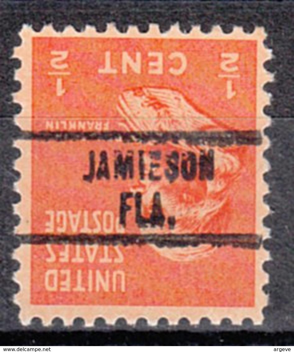 USA Precancel Vorausentwertung Preo, Locals Florida, Jamieson 734 - Vorausentwertungen