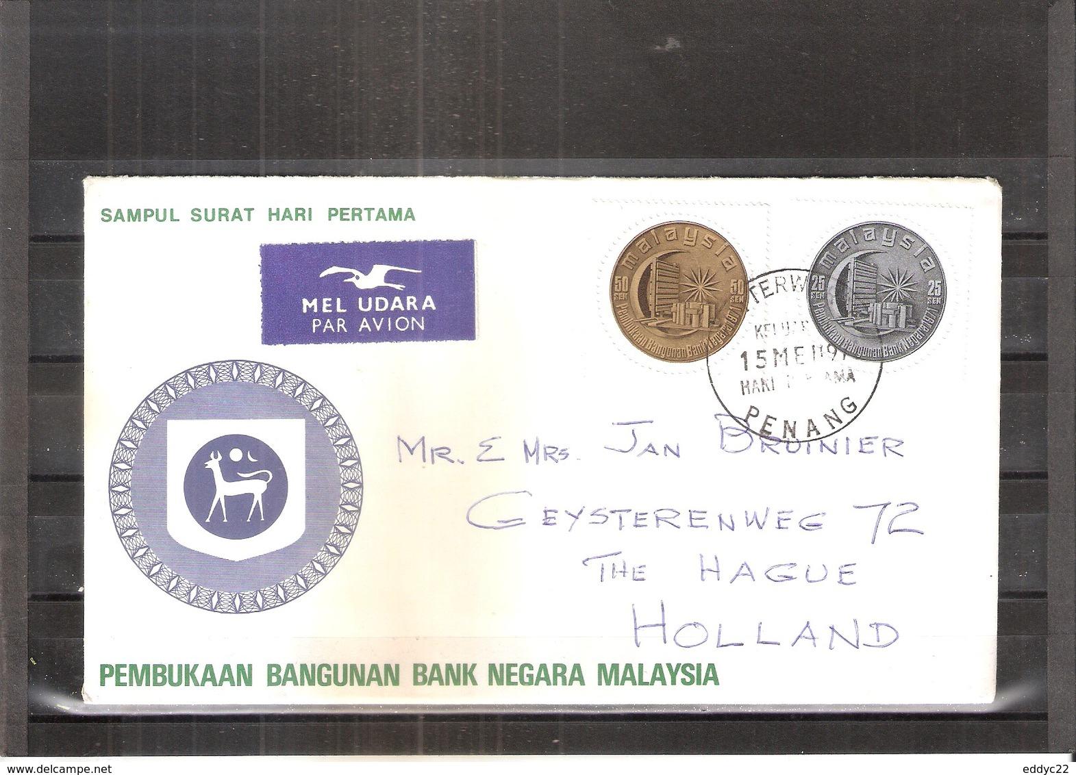 FDC Malaysia-Penang To Holland -  Bank Negara Of Kuala Lumpur - Complete Set (to See) - Malaysia (1964-...)