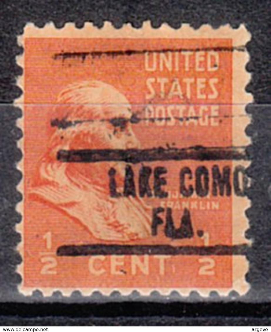 USA Precancel Vorausentwertung Preo, Locals Florida, Lake Como 734 - Vorausentwertungen