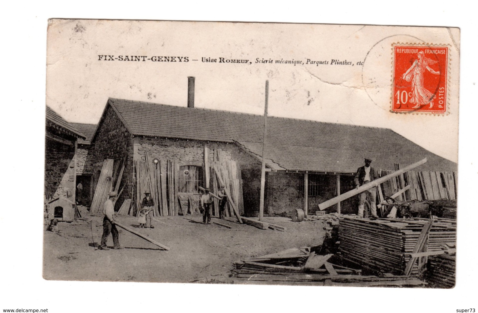CPA 43 -  Fix Saint Geneys - Usine Romeuf, Scierie Mécanique, Parquets , Plinthe Etc - France