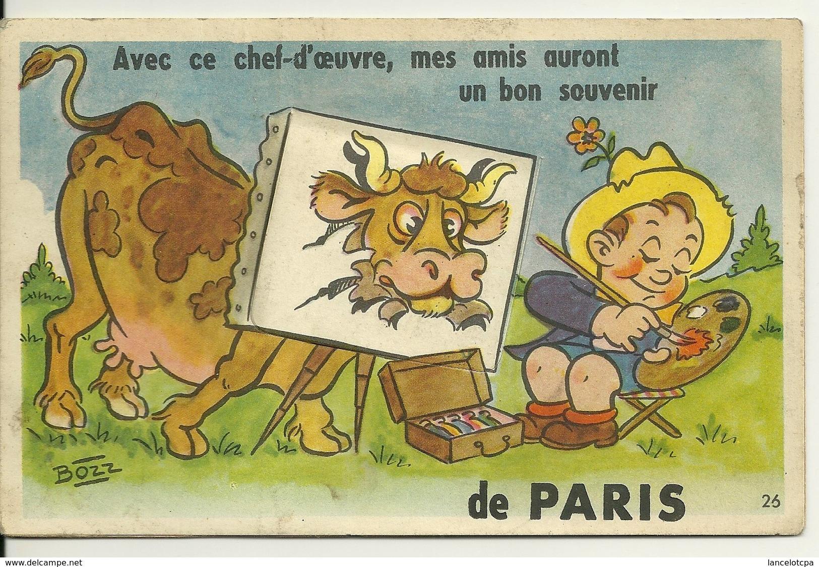 75 - PARIS / CARTE A SYSTEME - PEINTRE ET VACHE - Autres