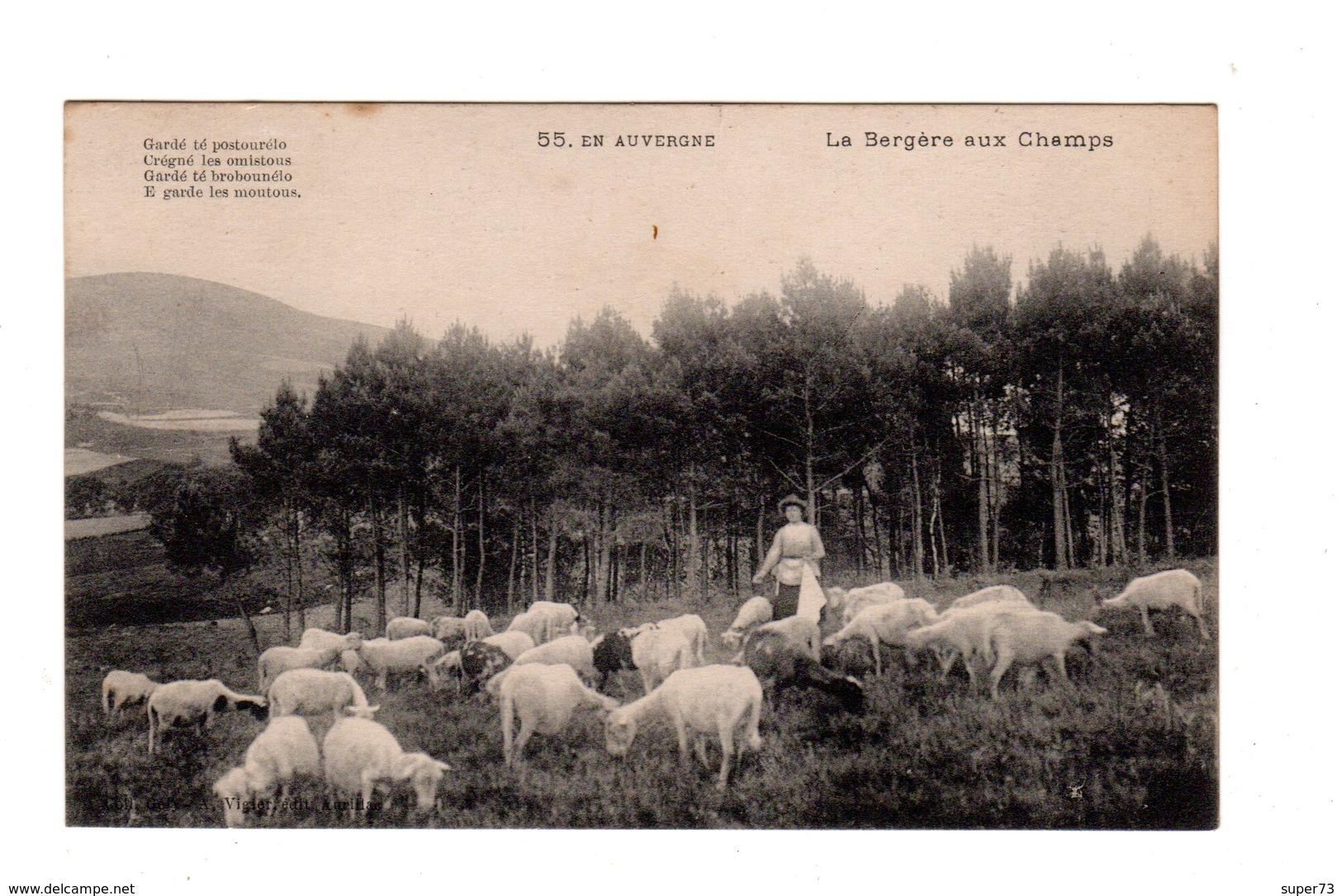 CPA 15 - En Auvergne - La Bergère Aux Champs - France