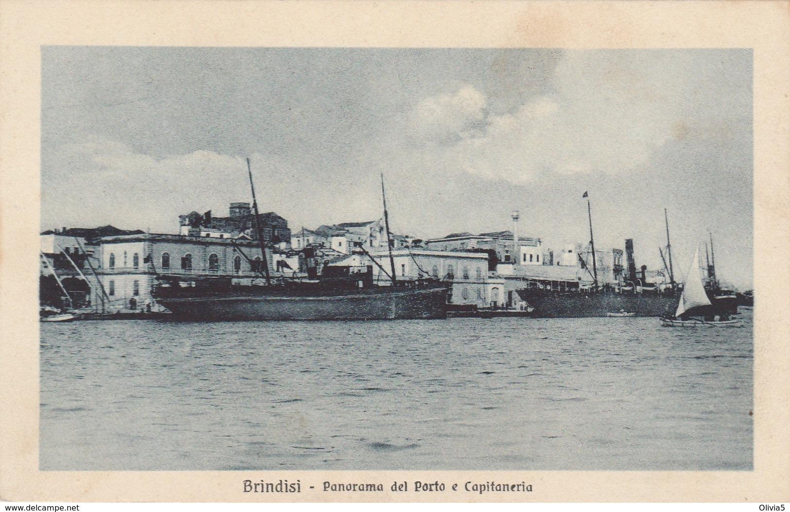 BRINDISI - PANORAMA DEL PORTO E CAPITANERIA - Brindisi