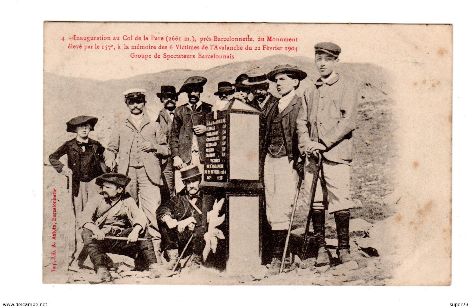 CPA 04 - Inauguration Au Col De La Pare ( 2661 M ) Près Barcelonnette , 1904 , Groupe De Spectateurs - France