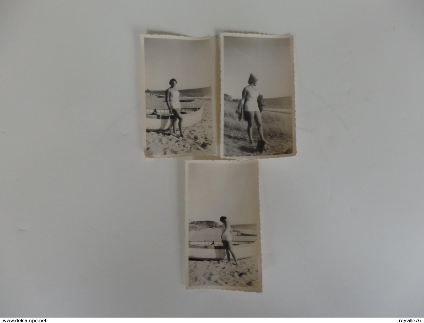 3 Photos De Femme En Maillot De Bain Des Années 50. - Pin-ups