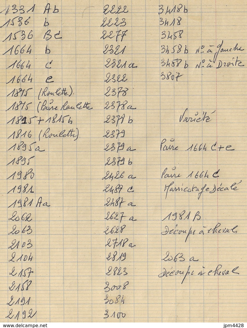 France Lot De 56 TP Timbres Roulettes Neufs **  Roulette Avec Et Sans N° . Liste N° Yvert  - Variétés -  Bon Lot Varié - Timbres