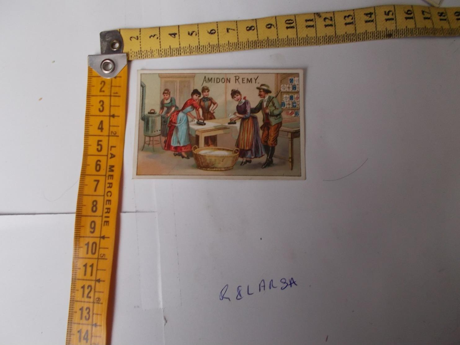 Chromos Teinture LA KABILINE - Repasseuse Calendrier Au Dos Voir Photos - Trade Cards