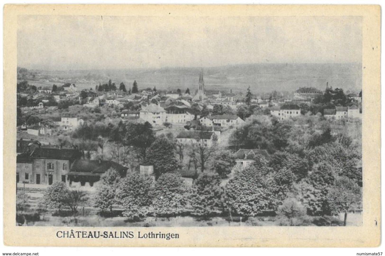 CPA CHATEAU SALINS - Lothringen - ( Vue Générale ) - Chateau Salins