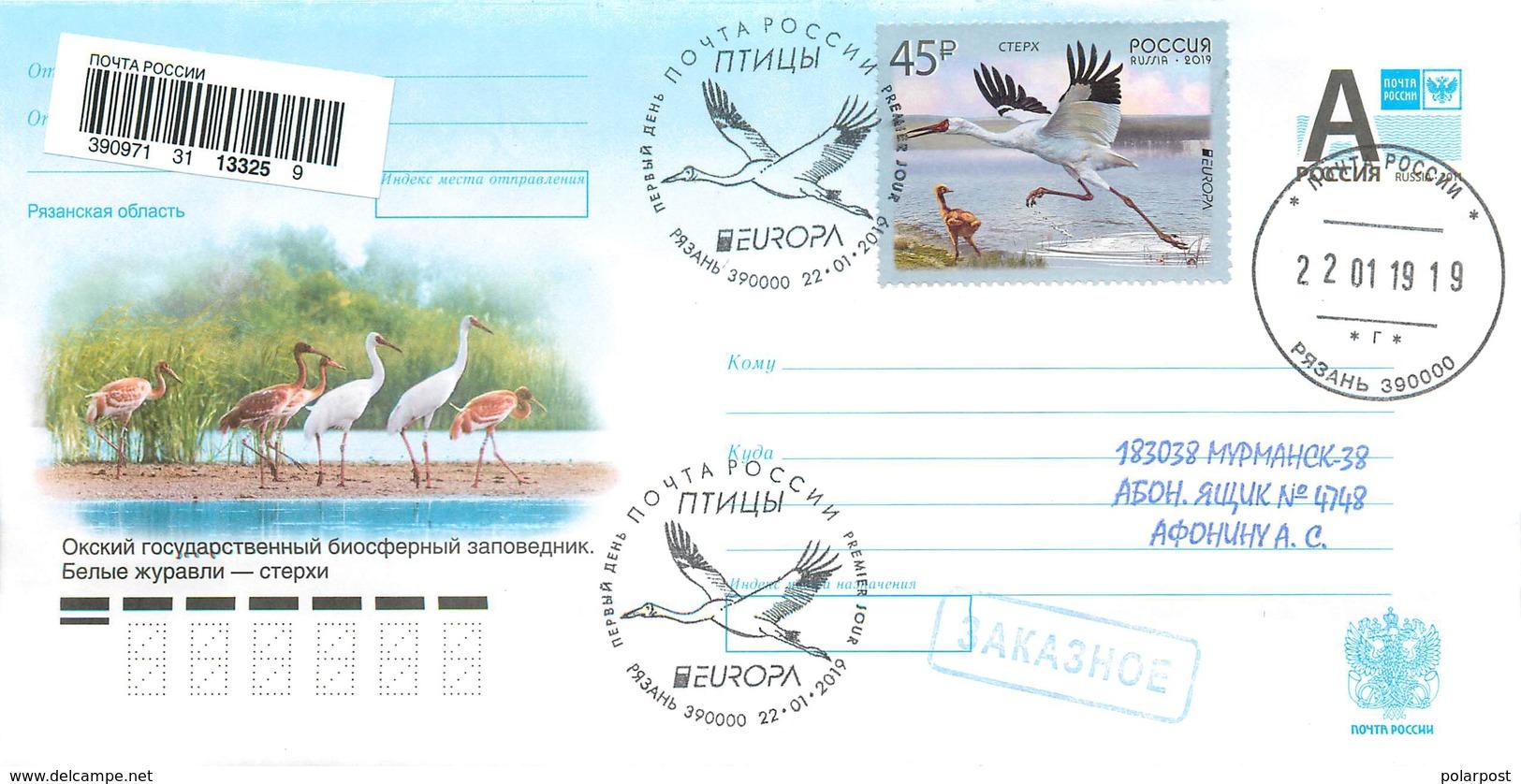 "RUSSIA 2019 2436. The Release Of The Program ""Europe"" Birds Of Siberian Corks Oksky Natural Biosphere Reserve (Ryazan) - Storks & Long-legged Wading Birds"