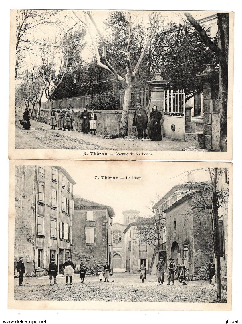 11 AUDE - THEZAN Carte Double (voir Descriptif) - Francia