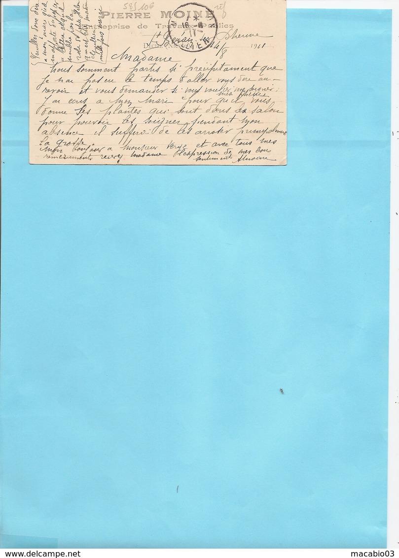 58 Nièvre :  Decize  Carte Pub Entreprise P.Moine  ( Recto-verso ) Réf 5849 - Decize