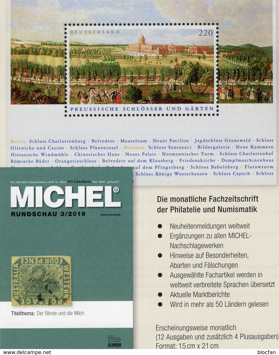 MICHEL Briefmarken Rundschau 3/2019 Neu 6€ Stamps Of The World Catalogue/magacine Of Germany ISBN 978-3-95402-600-5 - Tedesco