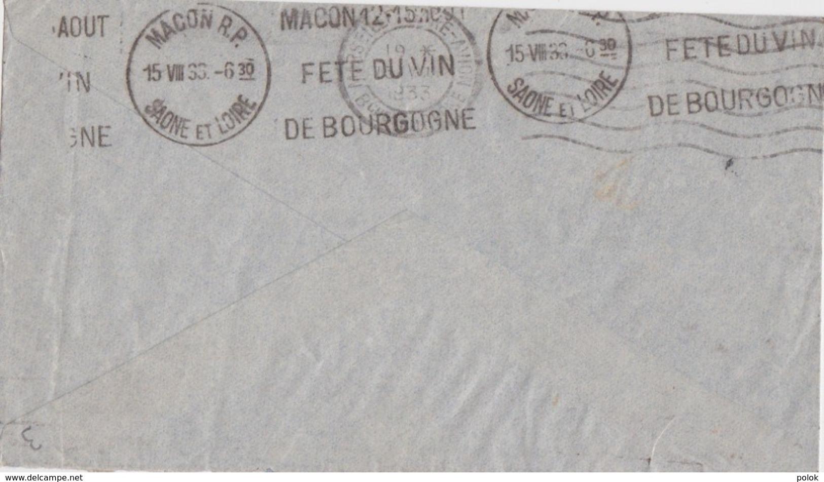 Lettre Indochine à France - Cachet Nha Trang, Annam 1933 - Par Avion, Via Air Orient - Indochina (1889-1945)