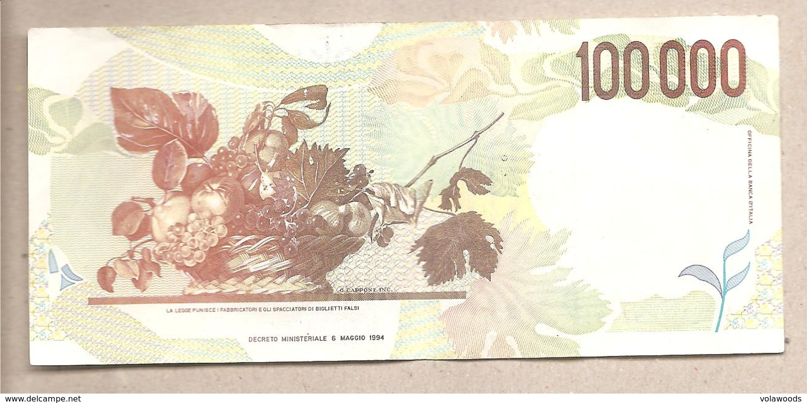 Italia - Banconota Circolata Da 100.000 Lire P-117b  - 1998 - 100000 Lire