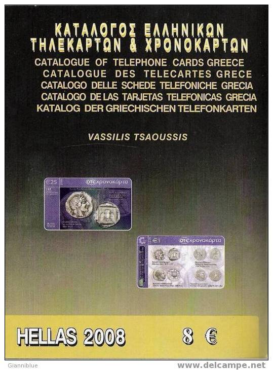 Greece/Greek Phonecard & Chronokartes Tsaousis Catalogues 2006 & 2008 - Telefonkarten