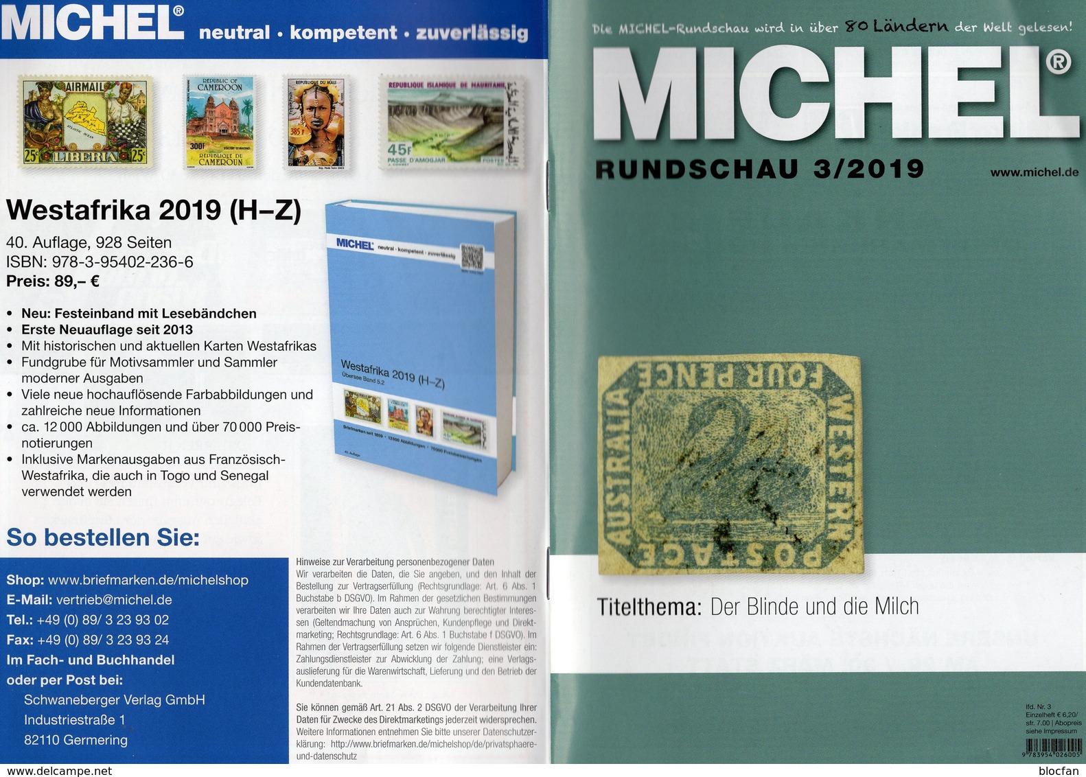 Rundschau MICHEL Briefmarken 3/2019 Neu 6€ Stamps Of The World Catalogue/magacine Of Germany ISBN 978-3-95402-600-5 - Encyclopédies