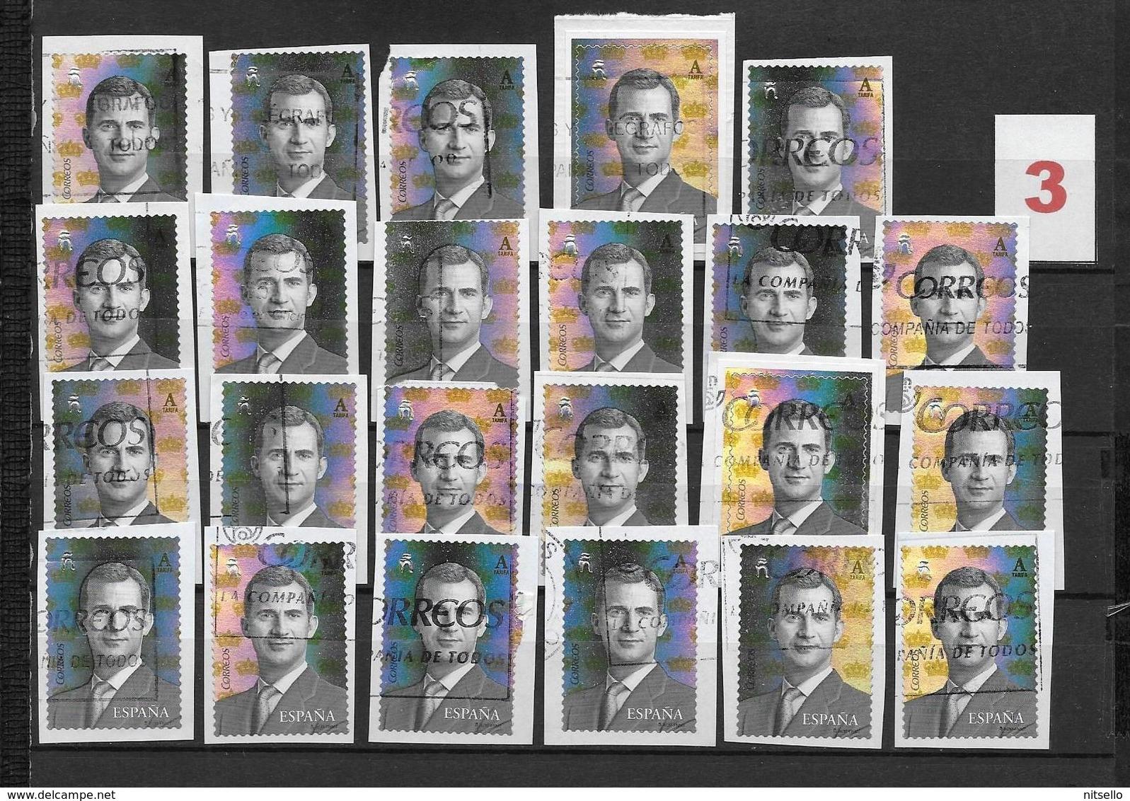 LOTE 1848  ///  ESPAÑA  REY FELIPE VI  LOTE EN PAPEL - 1931-Hoy: 2ª República - ... Juan Carlos I
