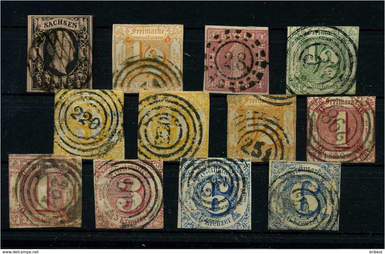 ALTDEUTSCHLAND Lot Gestempelt (111298) - Sammlungen