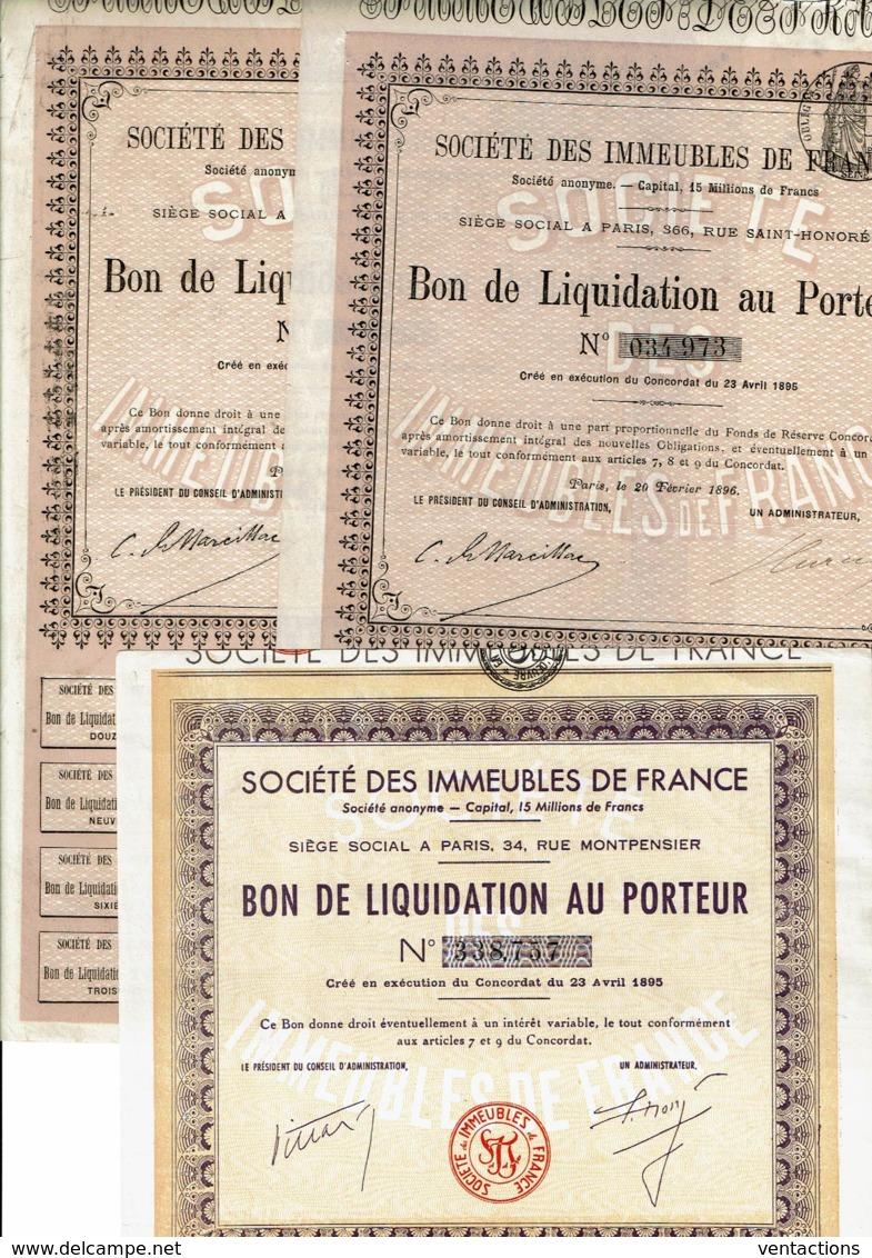 75-IMMEUBLES DE FRANCE. Lot De 3 Bons - Shareholdings