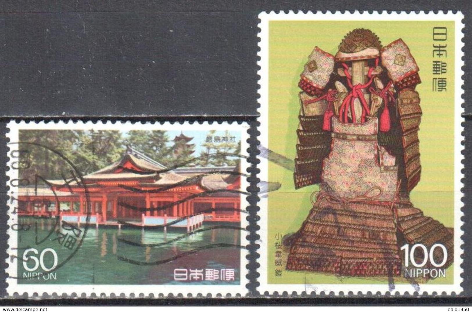 Japan 1988 - Mi.1790-91 - Used - 1926-89 Emperor Hirohito (Showa Era)
