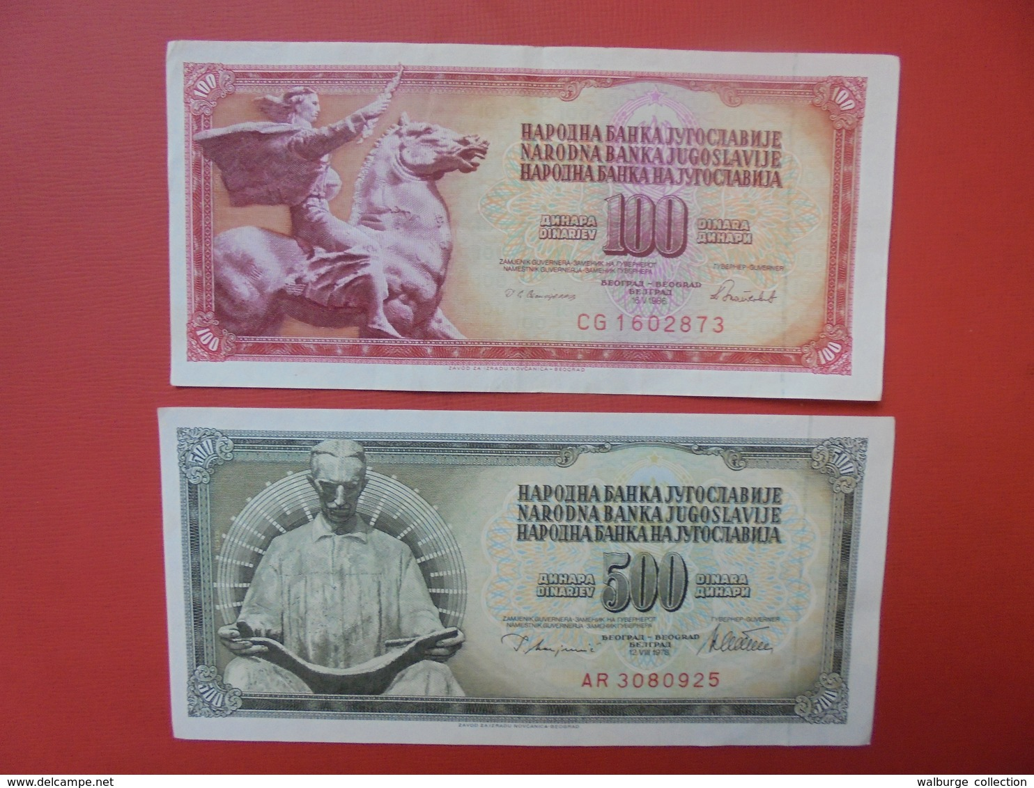"LOT 2 BILLETS ""YOUGOSLAVIE"" NEUFS Ou CIRCULER - Monnaies & Billets"