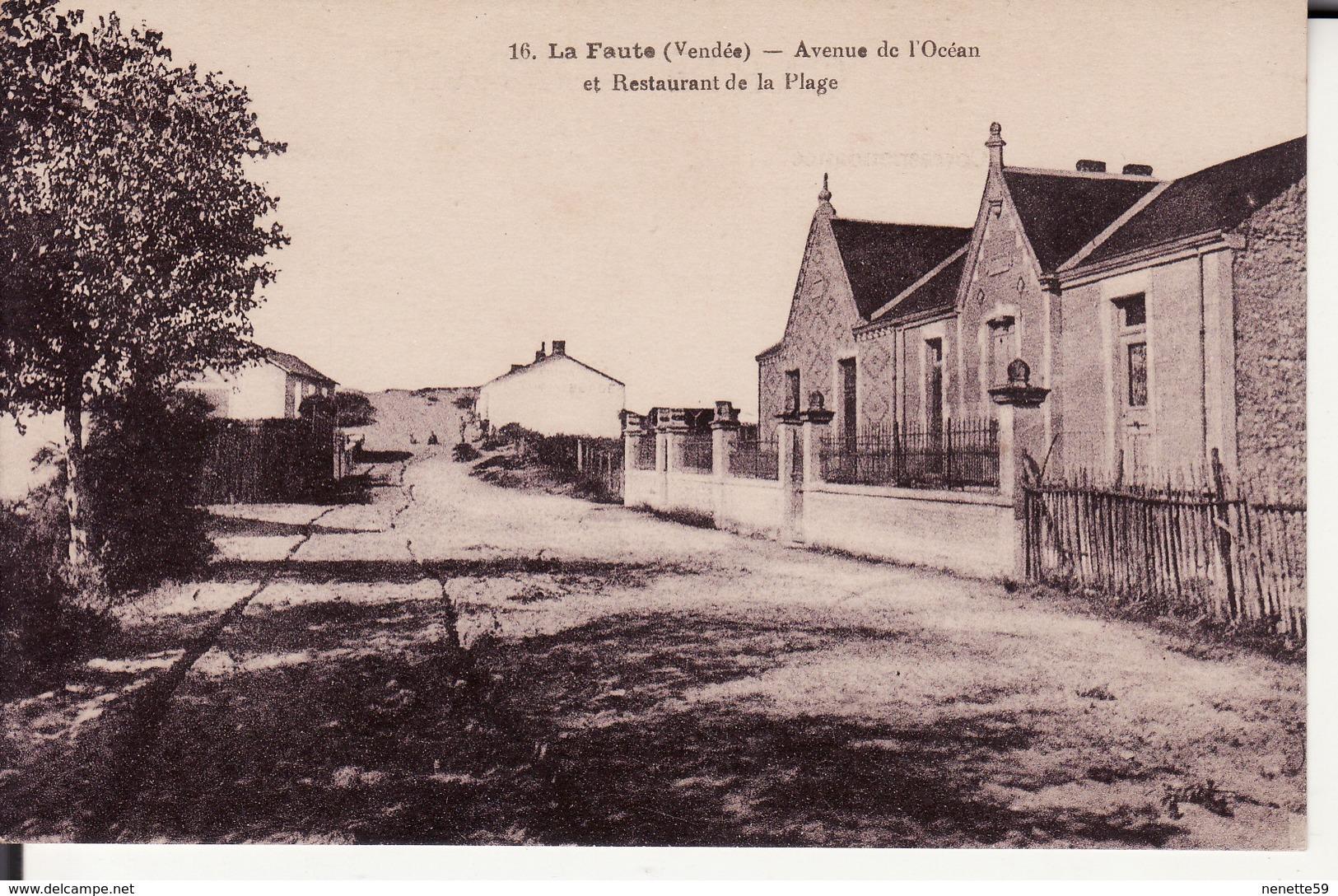 85 LA FAUTE -- Avenue De L' Océan Et Restaurant De La Plage - France