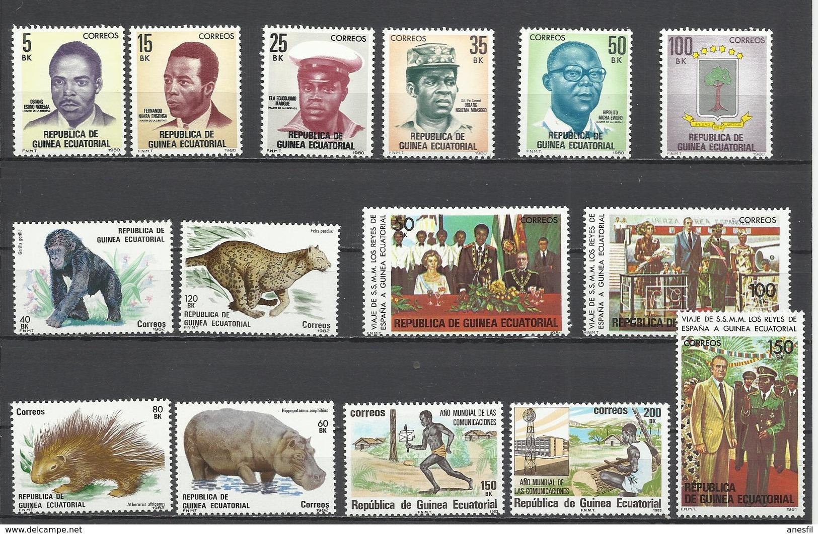 Guinea Ecuatorial. Sellos Nuevos Con Goma Original. - Mezclas (max 999 Sellos)