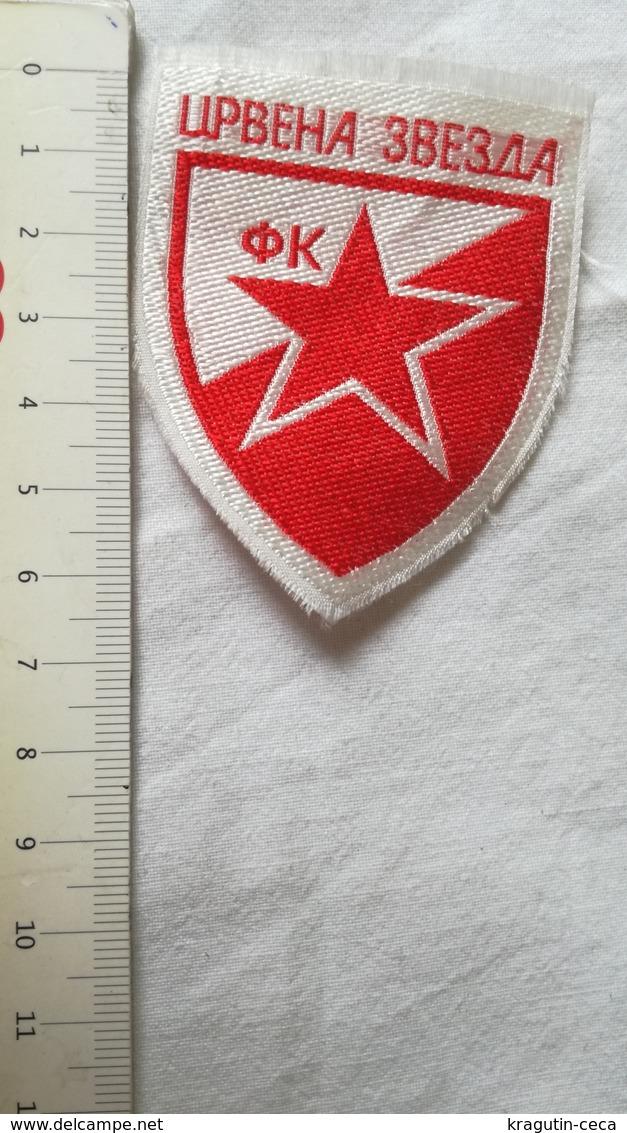 RED STAR CRVENA ZVEZDA EX YUGOSLAVIA SERBIA FOOTBALL CLUB PATCH SPORT EMBLEM Flicken YOUGOSLAVIA SERBIE EMBLÈME Insignia - Uniformes Recordatorios & Misc