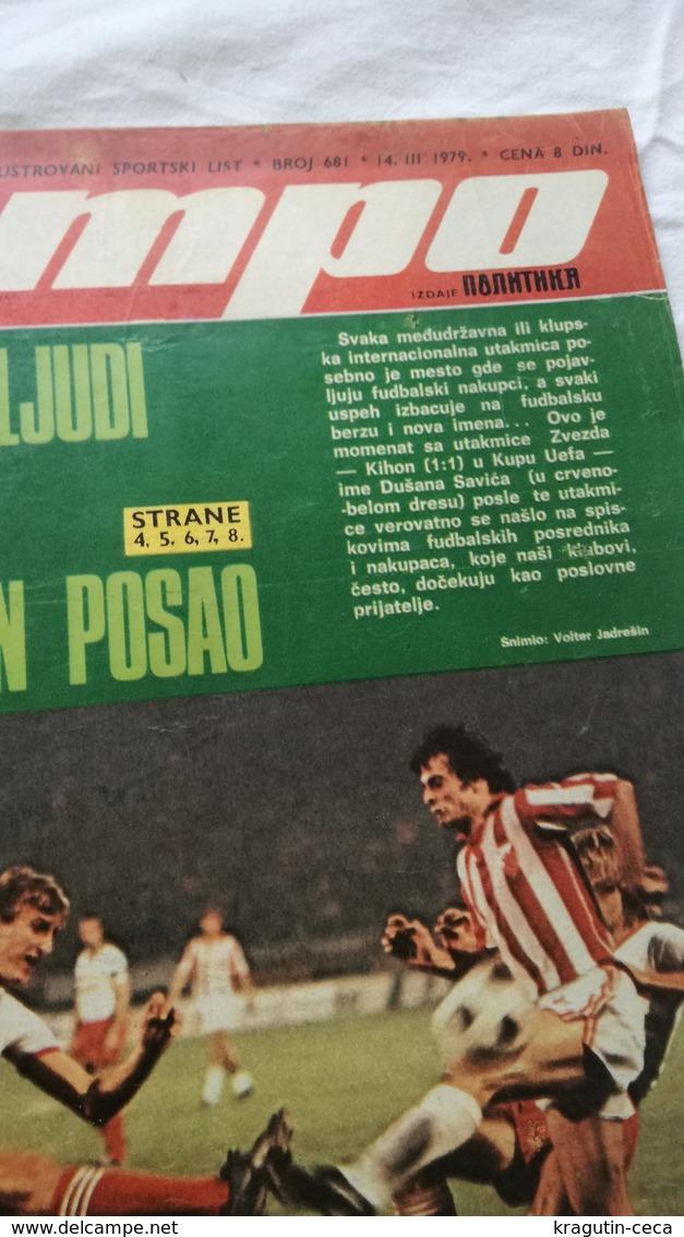 1979 TEMPO YUGOSLAVIA SERBIA SPORT FOOTBALL MAGAZINE NEWSPAPERS INTERNATIONAL SALES PLAYERS TRANSFERS PLANICA SKIING SKI - Otros