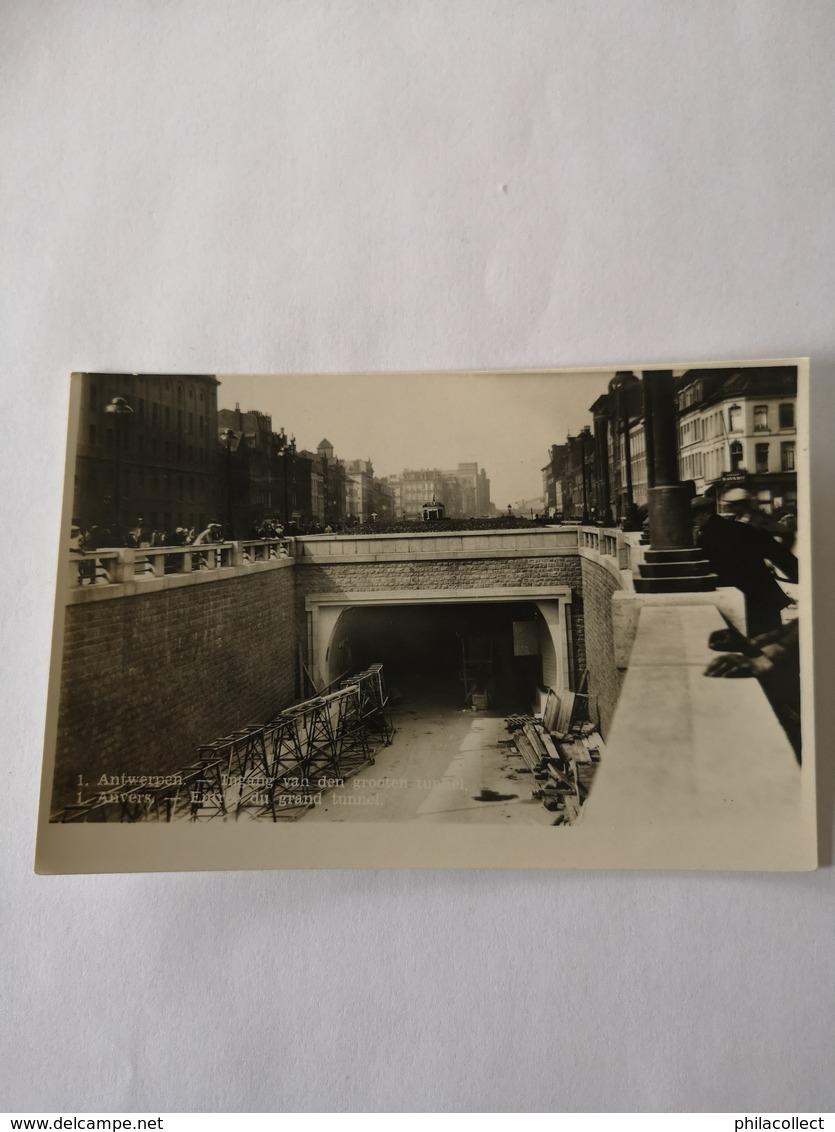 Antwerpen - Fotokaart / Ingang Grooten Tunnel (tijdens Bouw Of Reperatie?) 19?? - Antwerpen