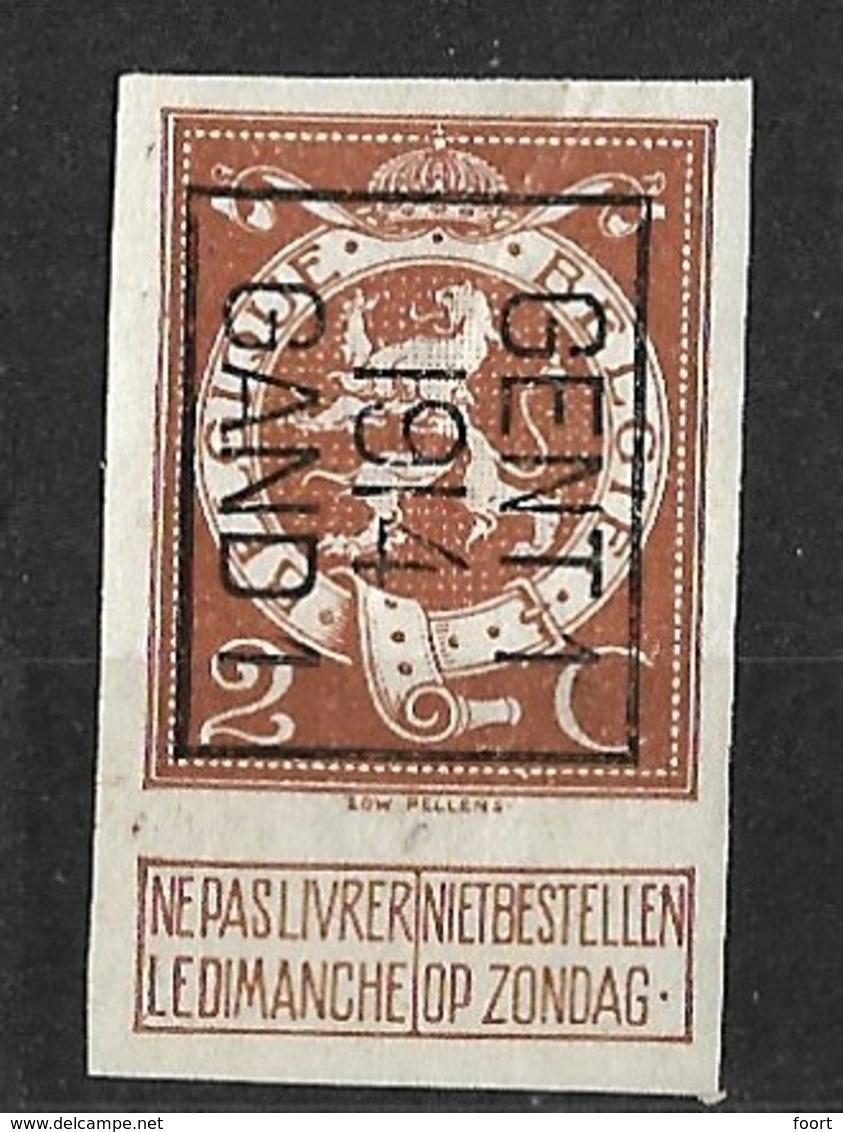 Gent 1914 Ongetand Typo Nr. 51B - Typo Precancels 1912-14 (Lion)