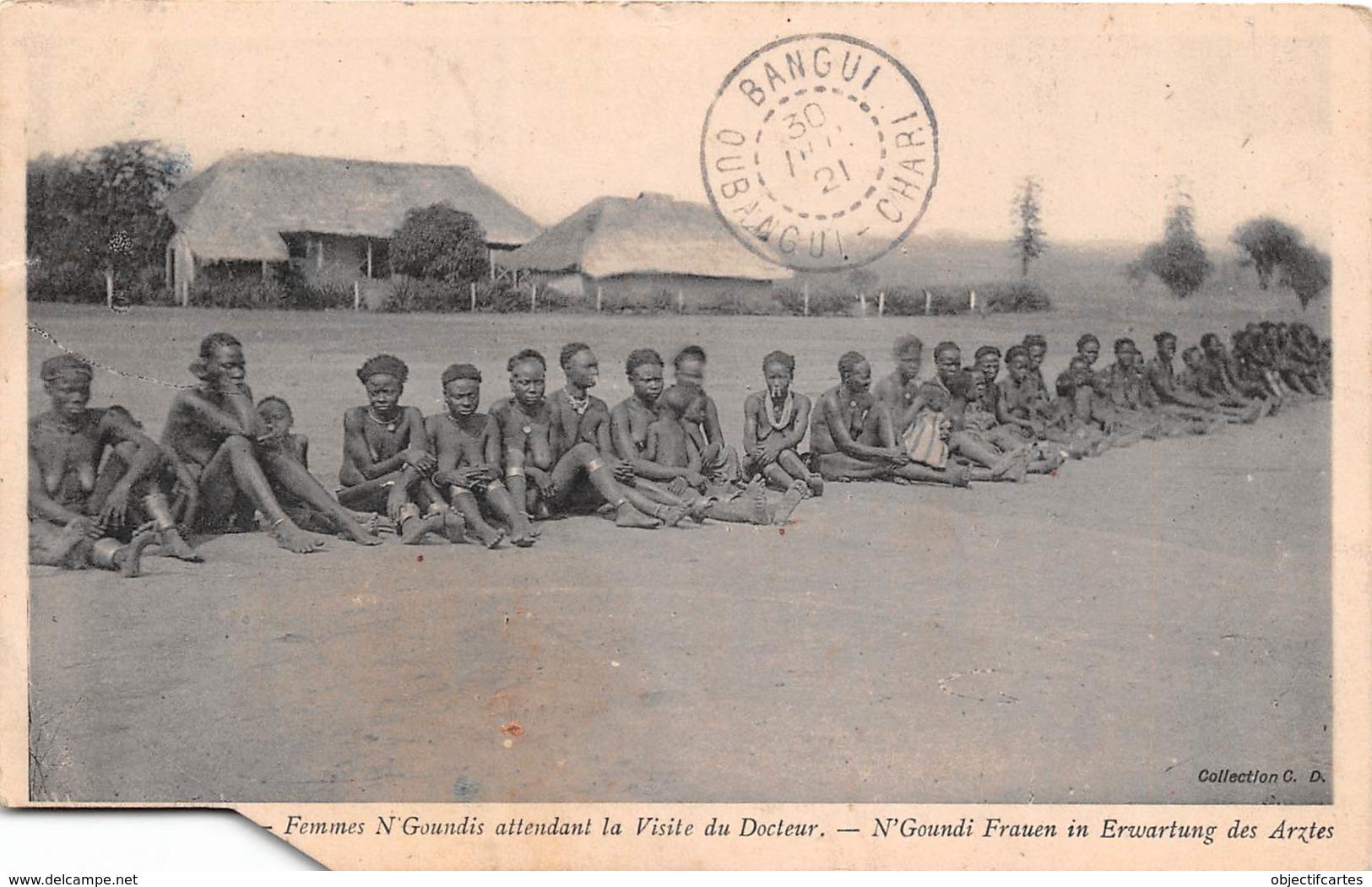 OUBANGUI CHARI TCHAD Haute Sanga Femmes N Goundis Attendant La Visite Du Docteur 41 (scan Recto-verso) FRCR90905 - Centrafricaine (République)