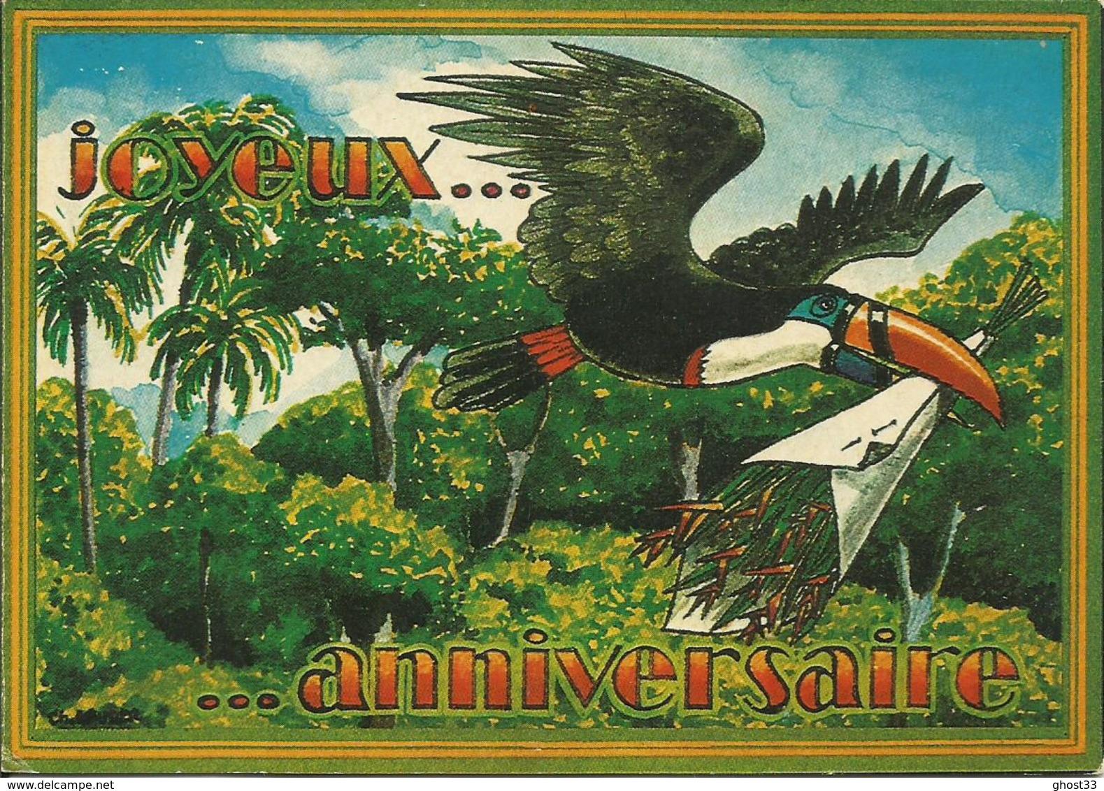 CARTE POSTALE PORTEFEUILLE - GUYANE - Joyeux Anniversaire - Production Pierre DUBOIS - Guyane
