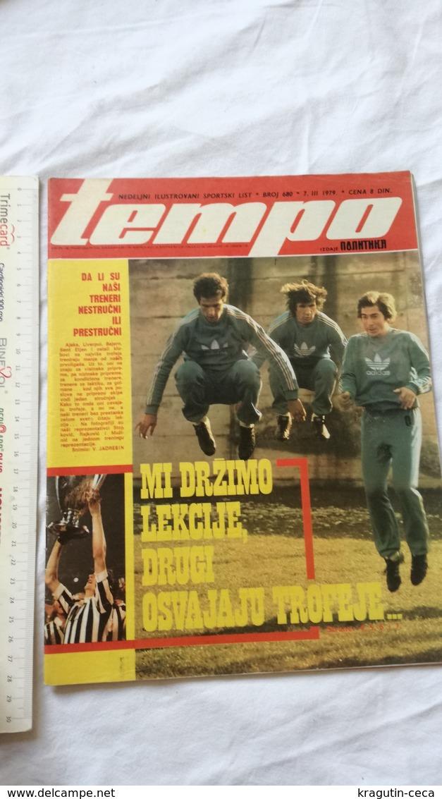 1979 TEMPO YUGOSLAVIA SERBIA SPORT FOOTBALL MAGAZINE NEWSPAPERS HOLCER RATKO SVILAR BASKETBALL CRVENA ZVEZDA RED STAR - Otros