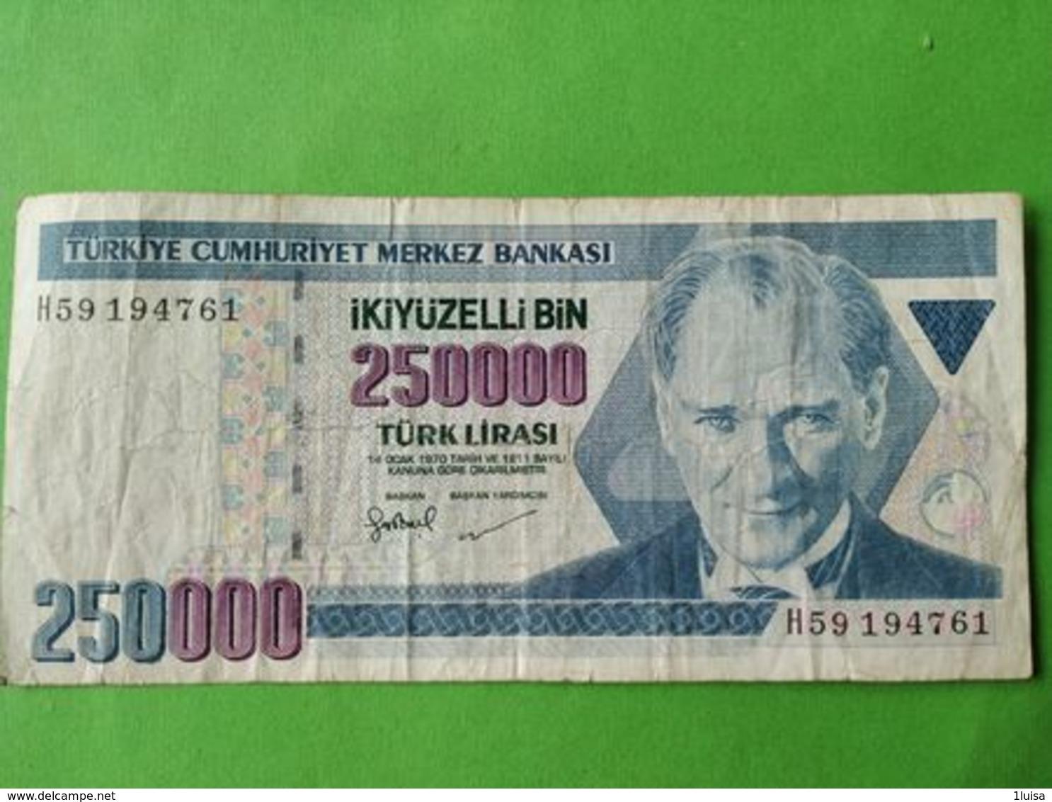 250000 Lirasi 1970 - Turchia