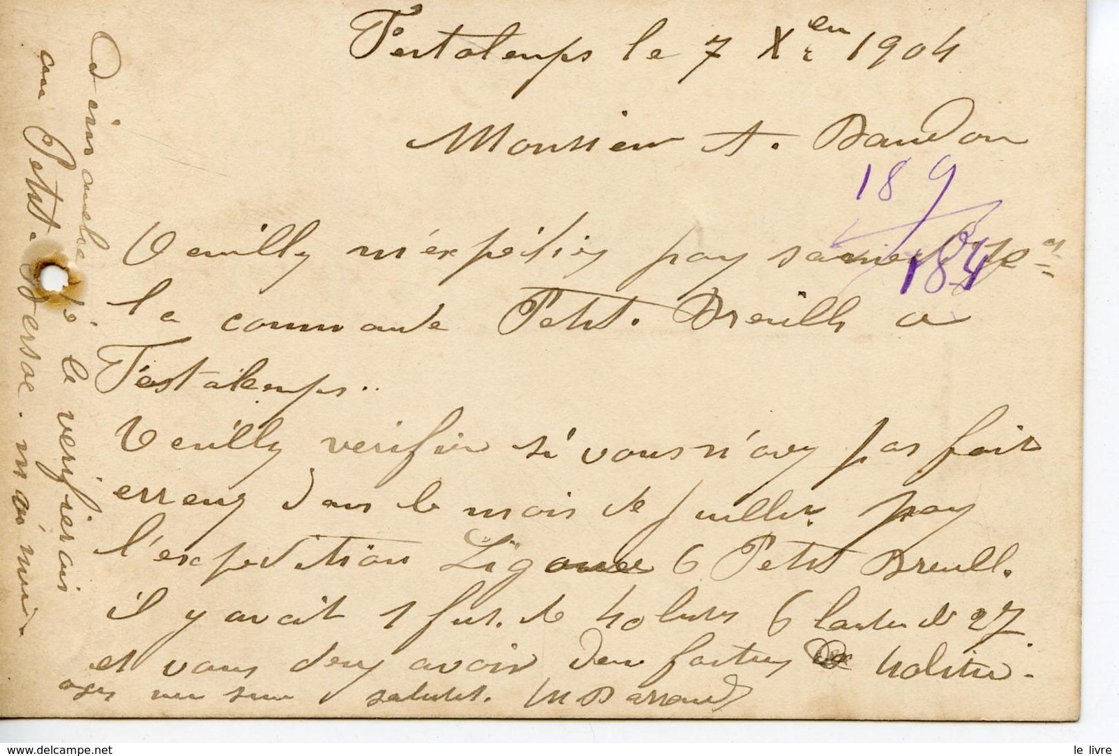 831. SAINT-AIGULIN 17 BRISTOL BAUDOU EAUX DE VIE DES CHARENTES 1904 - France