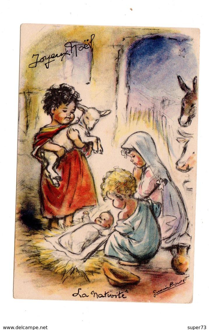 CPA Joyeux Noël - La Nativité - Germaine Bouret - Bouret, Germaine
