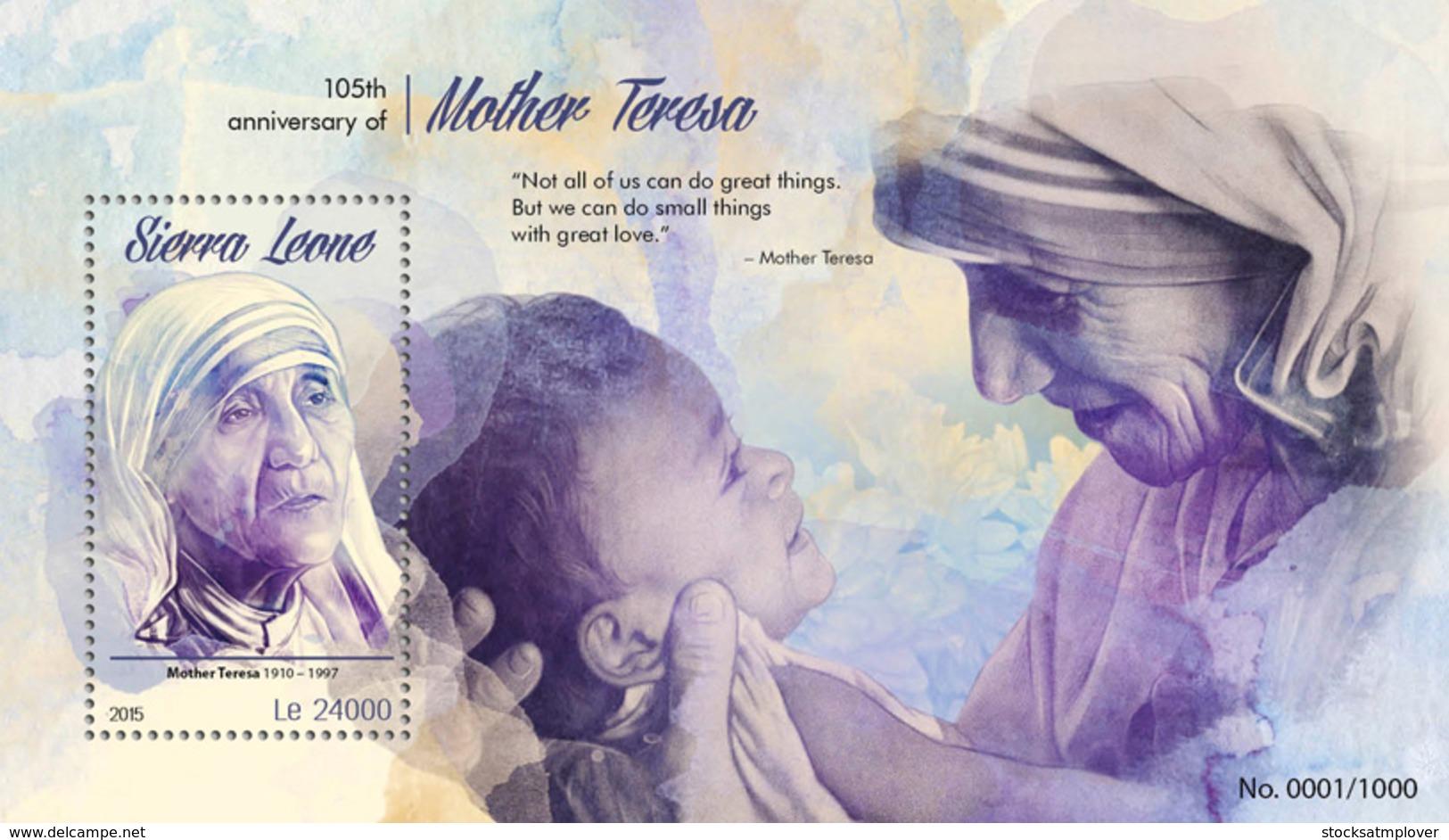 Sierra Leone 2015 Mother Teresa - Sierra Leone (1961-...)