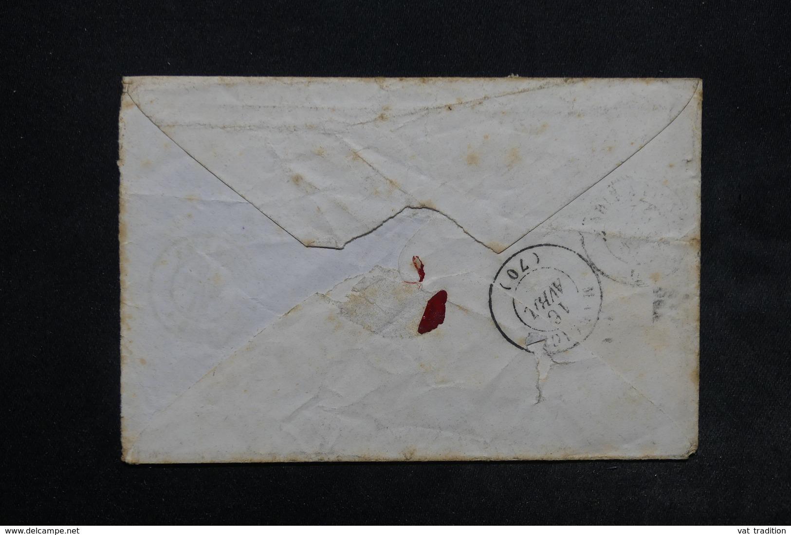 FRANCE - Enveloppe De Louhans Pour Marcigny En 1861 , Affranchissement Napoléon Type II Bleu Sur Vert - L 24511 - 1849-1876: Période Classique