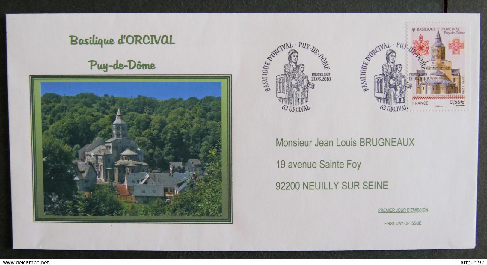 FRANCE - 2010 - PJ F 4446 - BASILIQUE D ORCIVAL - FDC