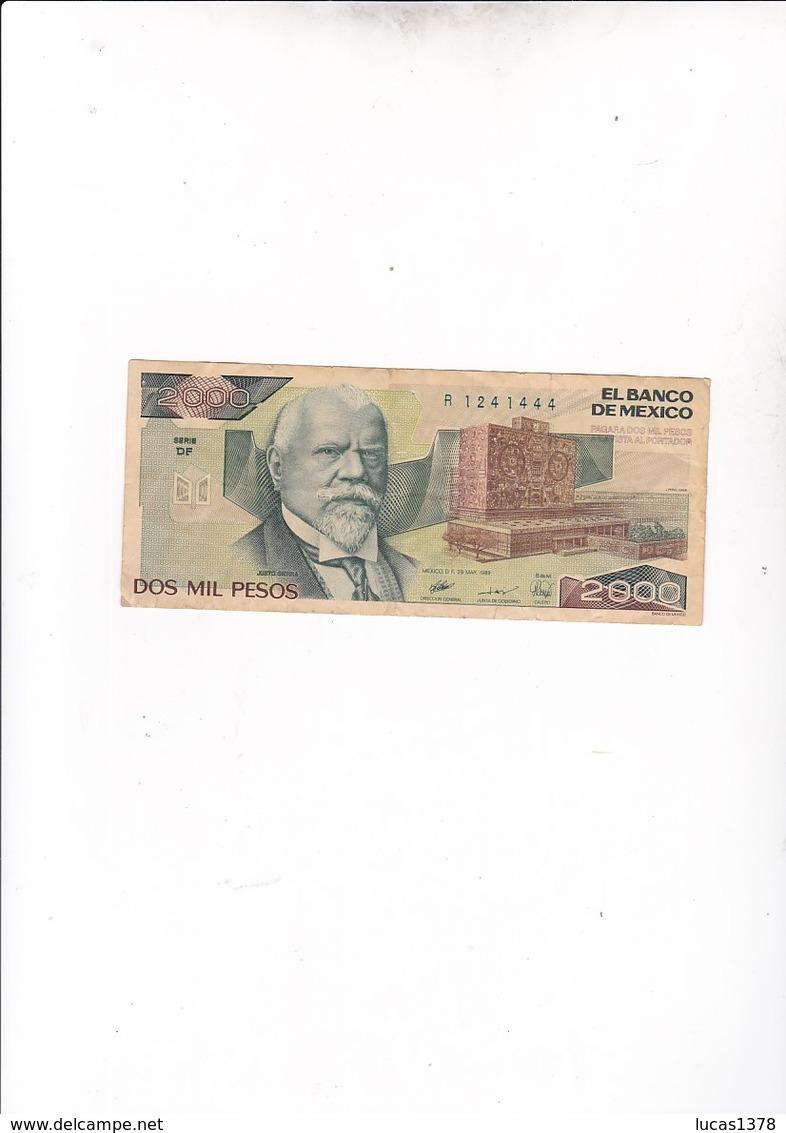 MEXIQUE / 2000 PESOS 1989 - Messico