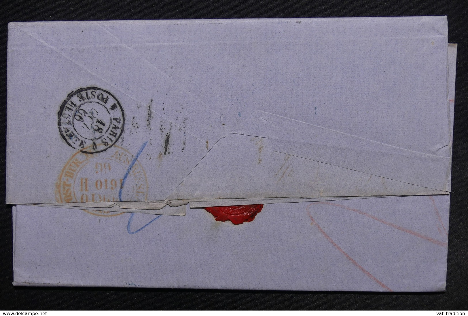 RUSSIE - Lettre De Varsovie Pour Paris En 1866 , Voir Différents Cachets à étudier - L 24513 - 1857-1916 Imperium