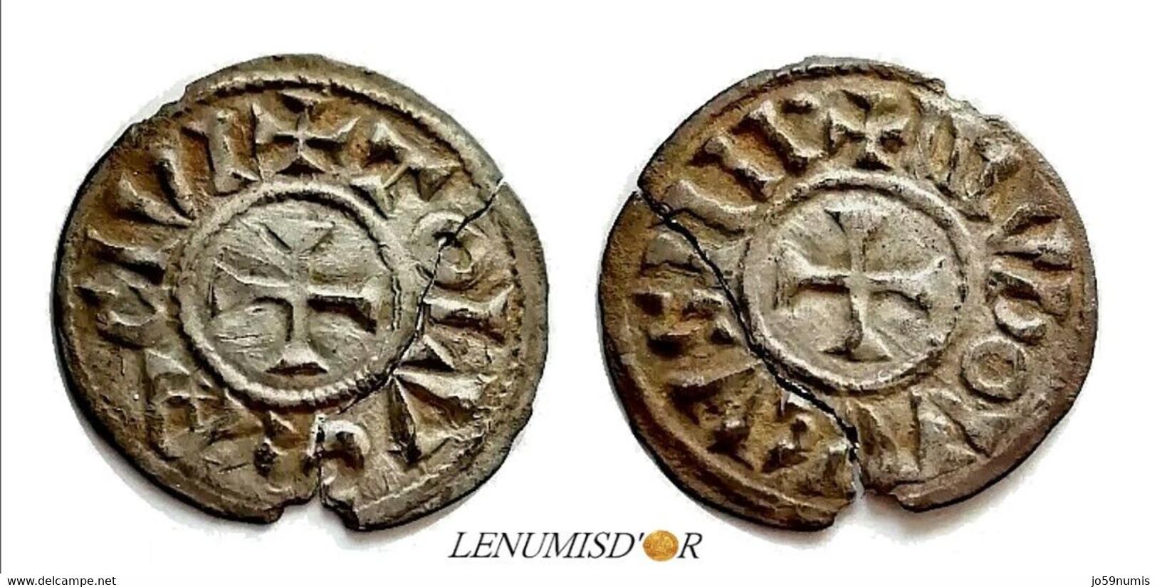 LOUIS Ier LE PIEUX Denier Toulouse - 751-987 Monnaies Carolingiennes