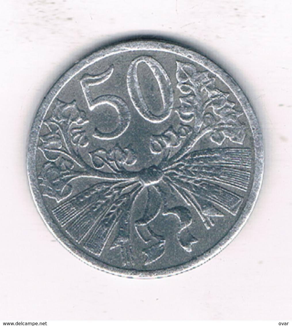 50 HALLER  1941  BOHMEN UND MAHREN  TSJECHOSLOWAKIJE /1909/ - Tschechoslowakei